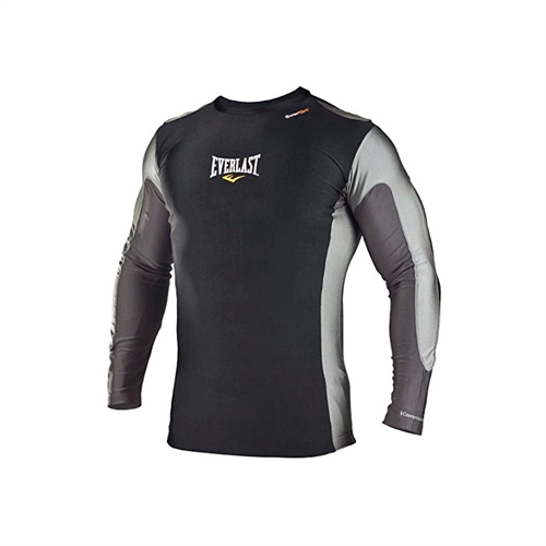 Dette er en Everlast Mens LS Rash Guard Trænings Tee i Grå og sort