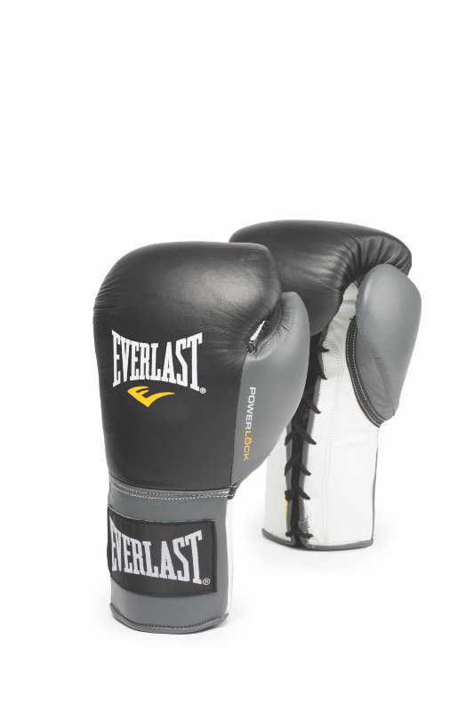 Everlast Powerlock Pro Lace Kamphandsker Sort/Grå